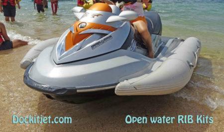 Seadoo RXT 2007 through 2017 inflatable sponson Dockitjet RIB kit