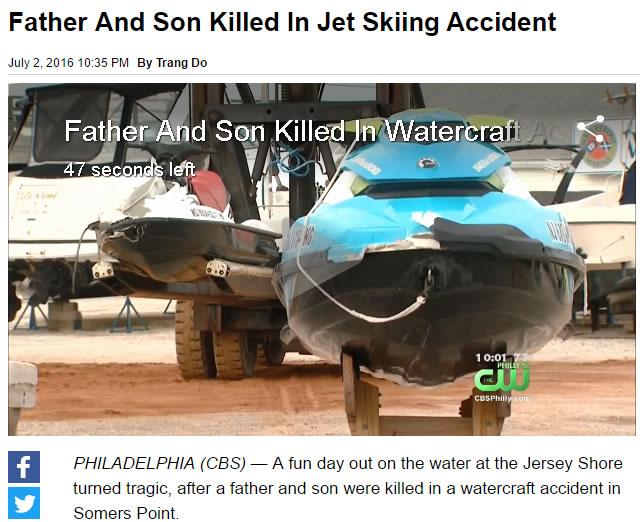 Father Son Killed In Horror Jetski Crash In The Us Ride