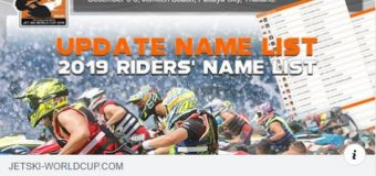 Thai Airways International Jet Ski World Cup 2019 – Aussie Riders List