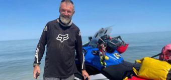 Jet ski rider Lindsay Warner 5 days away from a 5 month mission to ride around Australia